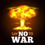 Manifesto di esplosione nucleare royalty illustrazione gratis