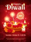 Manifesto di festa di Diwali royalty illustrazione gratis