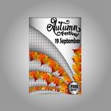 Manifesto di festival di autunno illustrazione vettoriale