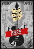 Manifesto di festival di musica illustrazione vettoriale