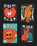 Manifesto di festival di musica rock Immagini Stock