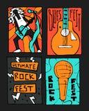 Manifesto di festival di musica rock Fotografia Stock Libera da Diritti