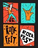 Manifesto di festival di musica rock Immagine Stock Libera da Diritti