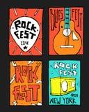 Manifesto di festival di musica rock Fotografie Stock Libere da Diritti