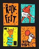 Manifesto di festival di musica rock fotografia stock
