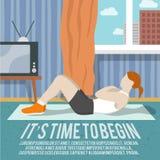 Manifesto di forma fisica di addestramento dell'ABS Immagini Stock