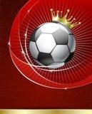 Manifesto di gioco del calcio Fotografia Stock