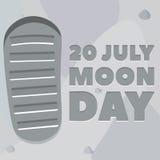 Manifesto di giorno della luna Immagine Stock Libera da Diritti