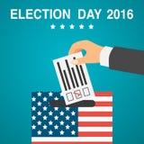 Manifesto di giorno delle elezioni U.S.A. 2016 Immagine Stock Libera da Diritti