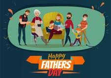 Manifesto di giorno di padri royalty illustrazione gratis