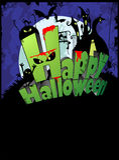 Manifesto di Halloween Fotografie Stock