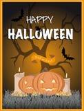 Manifesto di Halloween Fotografia Stock Libera da Diritti