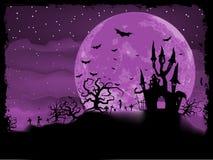 Manifesto di Halloween con il fondo delle zombie. ENV 8 illustrazione vettoriale