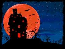 Manifesto di Halloween con la priorità bassa delle zombie. ENV 8 royalty illustrazione gratis