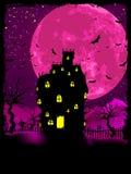 Manifesto di Halloween con la priorità bassa delle zombie. ENV 8 illustrazione vettoriale