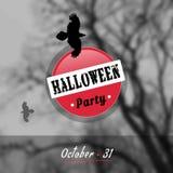 Manifesto di Halloween di vettore ENV, JPG Immagine Stock