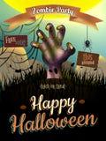 Manifesto di Halloween per la festa ENV 10 Immagini Stock Libere da Diritti