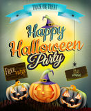 Manifesto di Halloween per la festa ENV 10 Fotografie Stock