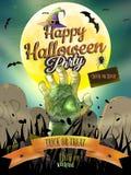 Manifesto di Halloween per la festa ENV 10 Fotografia Stock