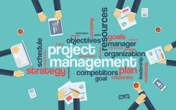 Manifesto di infographics della gestione di progetti con royalty illustrazione gratis
