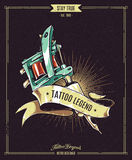 Manifesto di leggenda del tatuaggio Fotografia Stock Libera da Diritti