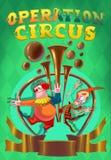 Manifesto di manifestazione del circo Fotografie Stock