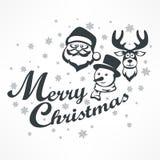 Manifesto di Mary Christmas su bianco illustrazione di stock