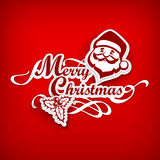 Manifesto di Mary Christmas su rosso illustrazione vettoriale