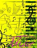Manifesto di musica Fotografia Stock Libera da Diritti