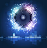 Manifesto di musica dell'altoparlante rumoroso Fotografie Stock Libere da Diritti