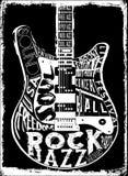 Manifesto di musica di hard rock royalty illustrazione gratis