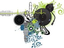Manifesto di musica. Il DJ Fotografie Stock Libere da Diritti