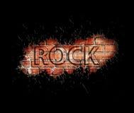 Manifesto di musica rock di lerciume illustrazione di stock