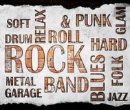 Manifesto di musica rock di lerciume fotografia stock libera da diritti