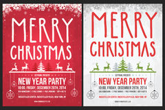 Manifesto di Natale Fotografie Stock