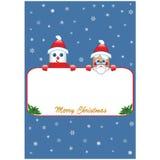 Manifesto di Natale su fondo blu Fotografia Stock
