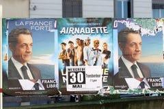 Manifesto di Nicolas Sarkozy immagine stock