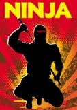 Manifesto di Ninja. Vettore. Immagine Stock
