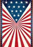 Manifesto di noi bandiera Immagine Stock