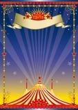 manifesto di notte del circo illustrazione di stock