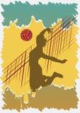 Manifesto di pallavolo Fotografia Stock