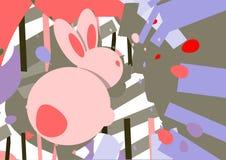 Manifesto di Pasqua Progettazione moderna per le cartoline d'auguri illustrazione vettoriale