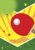 Manifesto di ping-pong Fotografia Stock