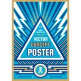 Manifesto di progettazione di arte Insegna verticale grafica Illustrazione di vettore Priorit? bassa astratta geometrica royalty illustrazione gratis