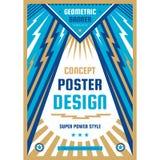 Manifesto di progettazione di arte Insegna verticale grafica Illustrazione di vettore Priorit? bassa astratta geometrica illustrazione vettoriale