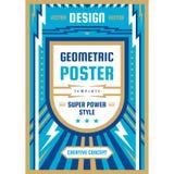 Manifesto di progettazione di arte Insegna verticale grafica Illustrazione di vettore Priorit? bassa astratta geometrica illustrazione di stock