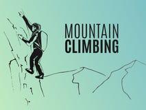 Manifesto di scalata di montagna Immagine Stock Libera da Diritti