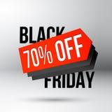 Manifesto di sconto di Black Friday con l'etichetta di prezzo di vendita Immagini Stock Libere da Diritti