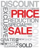 Manifesto di sconto di vendita illustrazione di stock