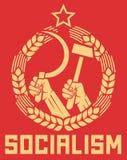 Manifesto di socialismo Fotografie Stock